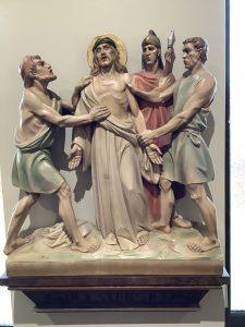 Jesus clothes are taken away